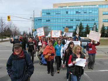 200 people march in Guelph