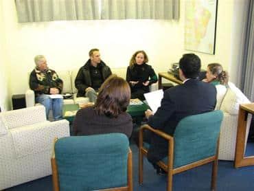 CBAN delegation meets with Brazilian Embassy staff, Ottawa.