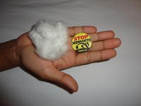 Cotton and Stop Monsanto Button jpg
