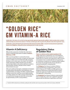 """Golden Rice"" – GM Vitamin-A Rice"