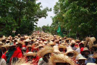 Haiti's farmers march in protest.
