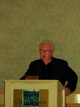 Leo Broderick speaks in Charlottetown