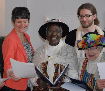 Megan Leslie joins in with Raging Grannies