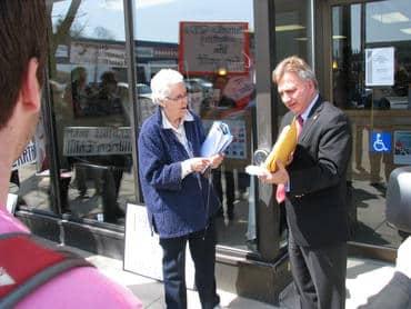 Presenting 1007 signatures to MP Frank Valeriote