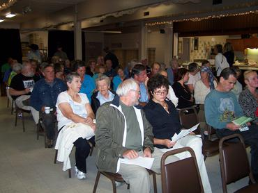 Princeton Legion Hall fills up for the event Sept 22