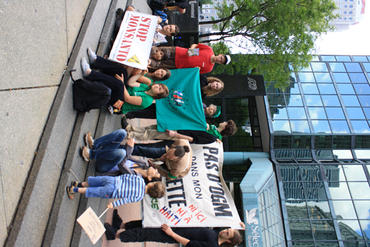 Solidarity action gathering outside the Haitian Consulate in Montreal, June 4
