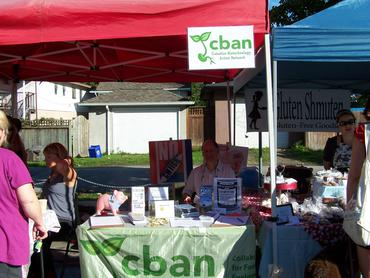 Tony Beck from Society for a GE Free BC at the CBAN table, Vancouver Farmers Market